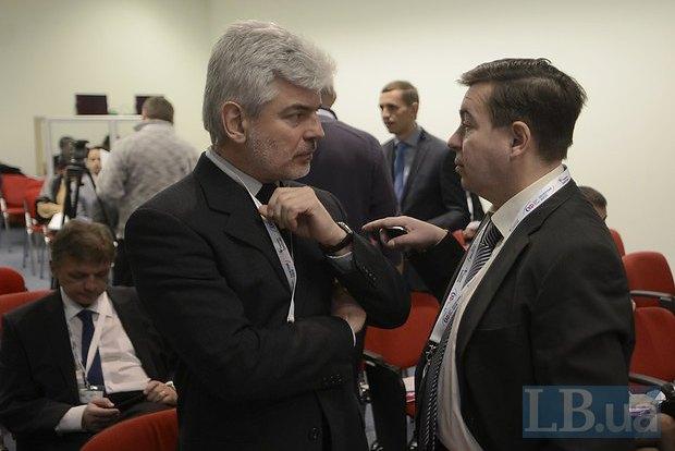 Виктор Матчук(слева), и Тарас Стецькив, народные депутаты Украины шестого созыва