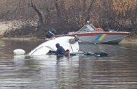В Киеве на Оболони затонула яхта