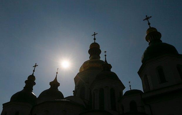 Солнечное затмение над Софией Киевской