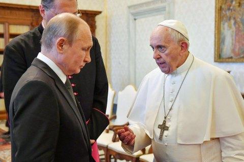 Папа Римский встретился с Путиным в Ватикане