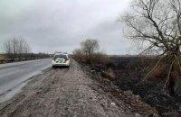 На Полтавщине полиция открыла уголовное производство из-за пожара сухостоя