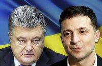 КМИС: отрыв Зеленского от Порошенко постепенно сокращается