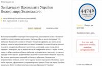 Петиція за відставку Зеленського зібрала понад 44 тис. підписів