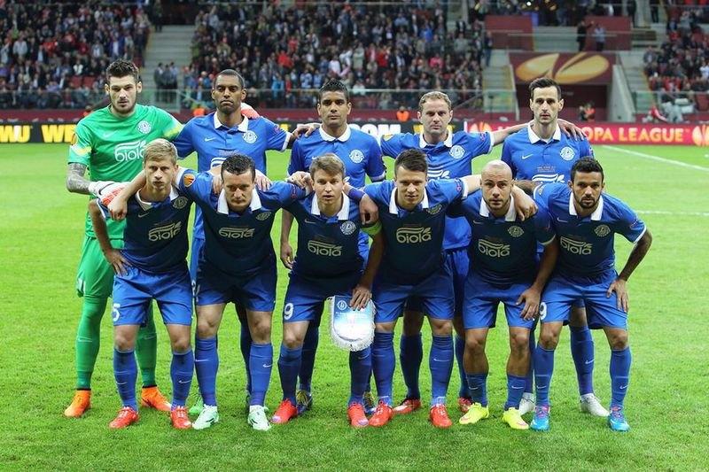 """Игроки """"Днепра"""" перед финальным матчем Лиги Европы-2015"""