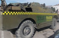 В Севастополе бронетранспортер используют в качестве такси