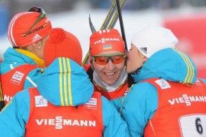 Украинские биатлонистки установили рекорд Олимпиад