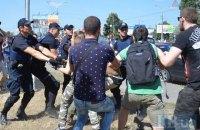 """Полиция задержала двух сторонников спецроты """"Торнадо"""" на акции у суда"""