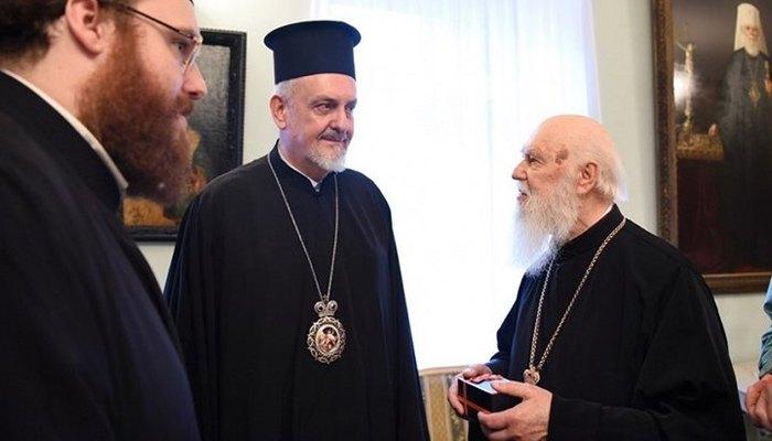 Встреча митрополита Галльского Эммануила с патриархом Филаретом