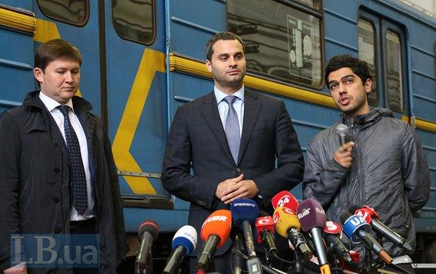 Слева направо: Виктор Брагинский, Илья Сайгак, Гео Лерос