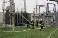 В Северодонецке сгорела трансформаторная подстанция