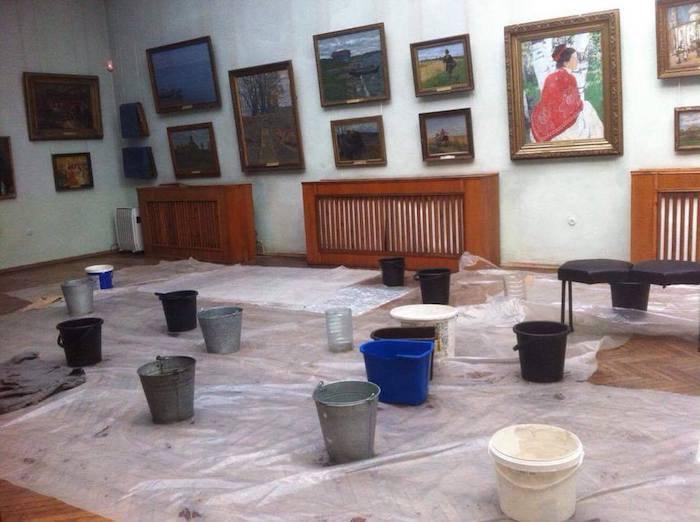 Ведра в залах Одесского художественного музея