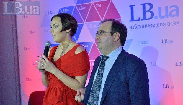 Шеф-редактор LB.ua Соня Кошкина (справа) и главный редактор LB.ua Олег Базар