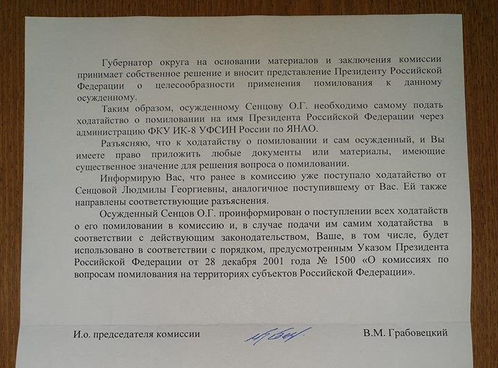 Петиция поСенцову вСША набрала практически 100 000 подписей