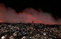 У Прилуках загорілося сміттєзвалище