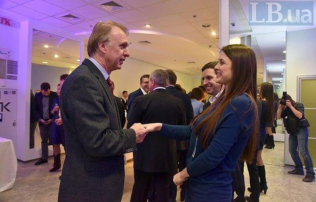 Экс-министр иностранных дел Владимир Огрызко и Светлана Балюк, Институт Горшенина