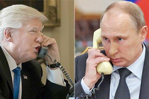 Телефонный разговор Трампа и Путина был сосредоточен на Сирии и Украине