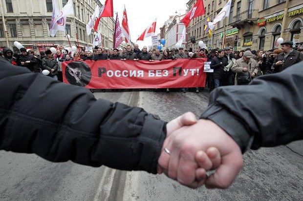 Митинг оппозиции в Санкт-Петербурге, 25 февраля 2012.