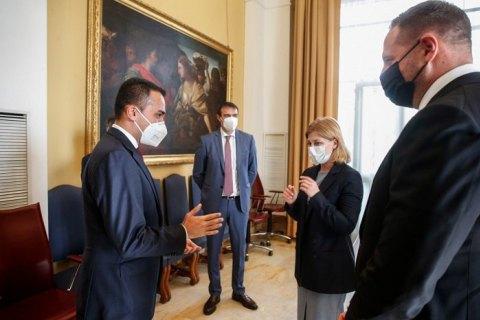 Ермак и Стефанишина в Риме обсудили ситуацию на Донбассе с главой МИД Италии