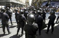 Протестующих шахтеров в Мадриде разогнали резиновыми пулями