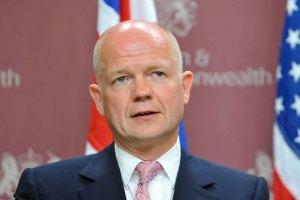 Хейґ пообіцяв Тимошенко, що Британія допомагатиме Україні