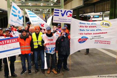 В Германии бастуют железнодорожники