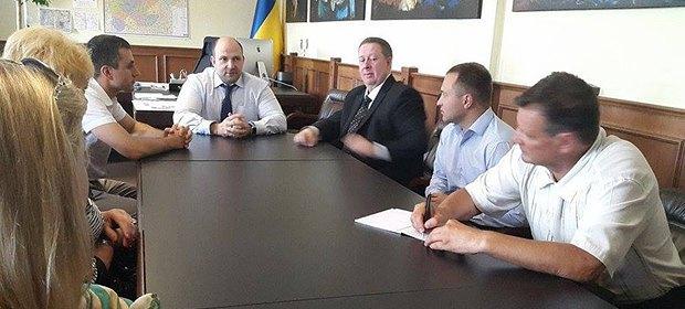 Во время представления коллективу Департамента капитального строительства Киевской облгосадминистрации нового руководителя – Олега Мищенко