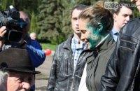 """Сторонницы Королевской облились зеленкой """"в знак солидарности"""""""