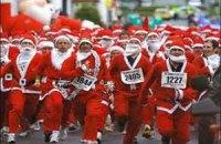 Во Франции прошел забег Дедов Морозов