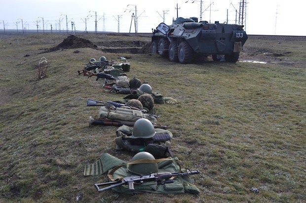 Украинский блок-пост на затоке Сиваш
