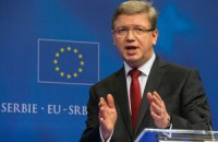 Фюле закликав російський конвой поважати міжнародне право