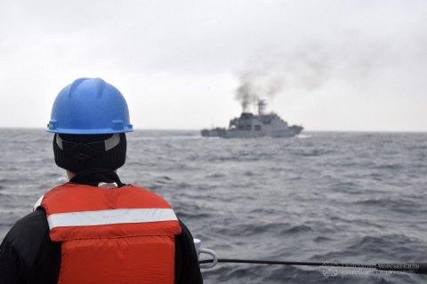 Военные корабли Украины и Румынии провели совместные учения в Черном море