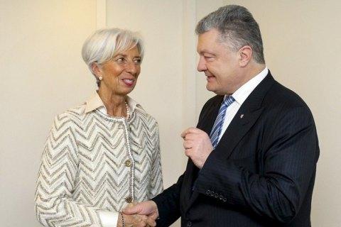 Директор МВФ похвалила Порошенка за реформи