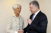 Директор МВФ похвалила Порошенко за реформы