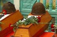 Под Киевом перезахоронили останки 55 воинов ВОВ