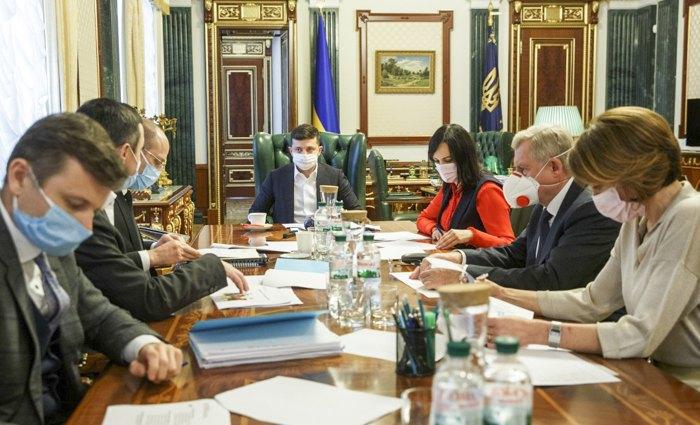 Яків Смолій під час наради в ОПУ, 9 квітня 2020