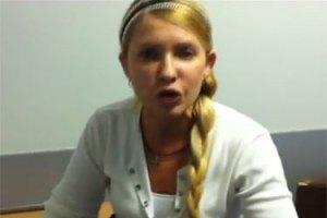 Тимошенко спит на ходунках в коридоре