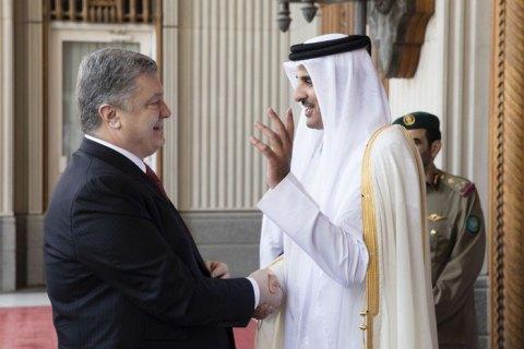 Порошенко провів переговори з еміром Катару