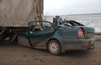 В Кировоградской области Skoda въехала сзади в грузовик, погибли три человека