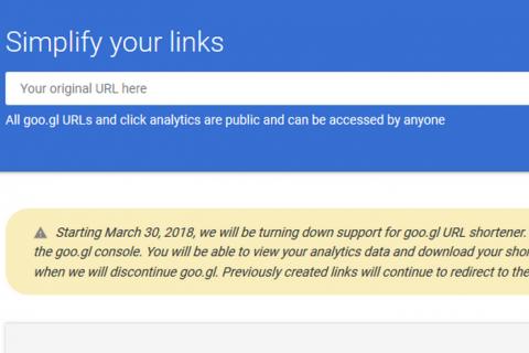 Сервіс для скорочення посилань Google URL Shortener планують закрити