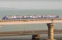Путін відкрив залізничну частину мосту в окупований Крим