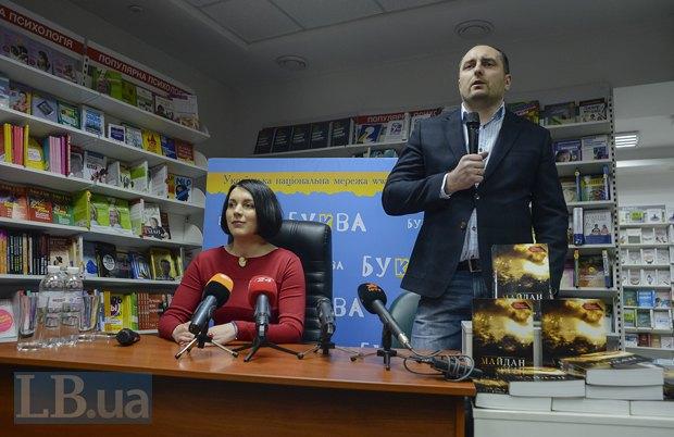 Соня Кошкина и издатель книги Дмитрий Кириченко