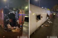 У Києві перевернувся автобус з Молдови, постраждали вісім пасажирів