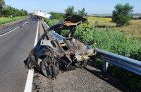 Четверо людей загинули при зіткненні легковика з вантажівкою у Запорізькій області