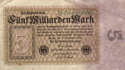 5-миллиардные марки 20-х годов прошлого века