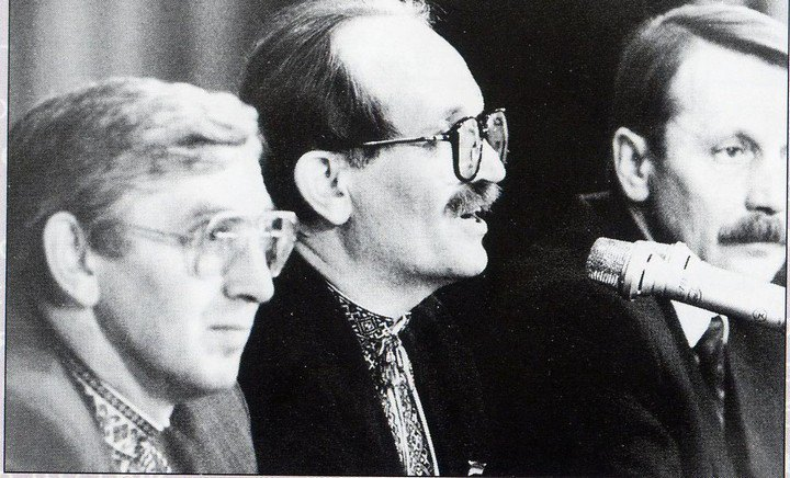 Михайло Бойчишин (зліва) і В'ячеслав Чорновіл (справа)