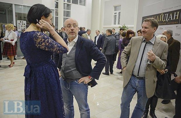 Алексей Резников(в центре), секретарь Киевсовета и Тарас Чорновол, экс-нардеп
