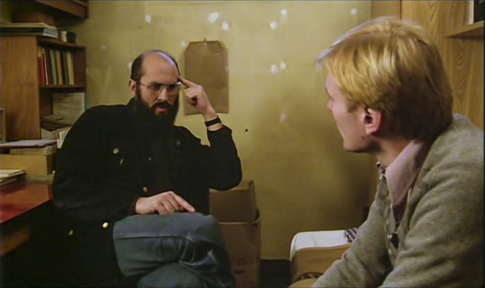 Хорст Малер в тюремной камере, 1978 год. Кадр из фильма «Германия осенью»