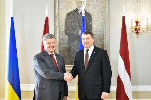 Президент Латвії відвідає Донбас