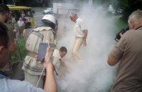 На пикете под Министерством обороны в Киеве мужчина совершил самоподжог