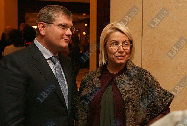 Губернатор Днепропетровской области Александр Вилкул и Советник Президента Украины Анна Герман